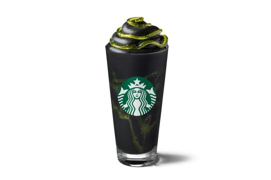 Starbucks' new Halloween-themed Phantom Frappuccino will be available Oct. 26-31 in Europe, Africa and the Middle East.
