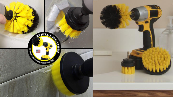 The soft bristles won't damage whatever surface you're cleaning.