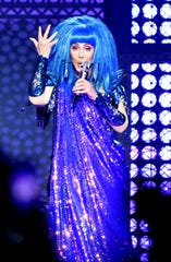 Cher performs at Manchester Arena on Oct. 24, 2019 in Manchester, United Kingdom.