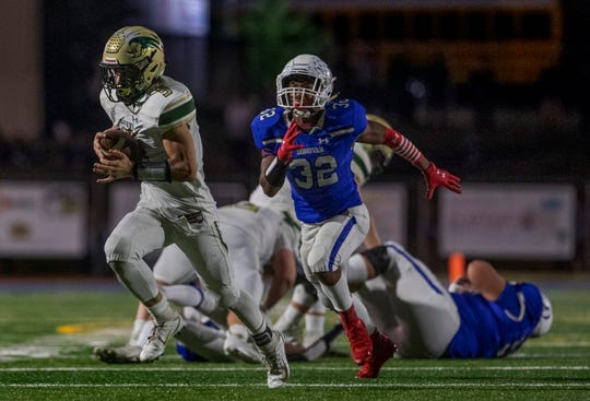 Red Bank Catholic Football vs Donovan Catholic in Toms River NJ on October 25, 2019.