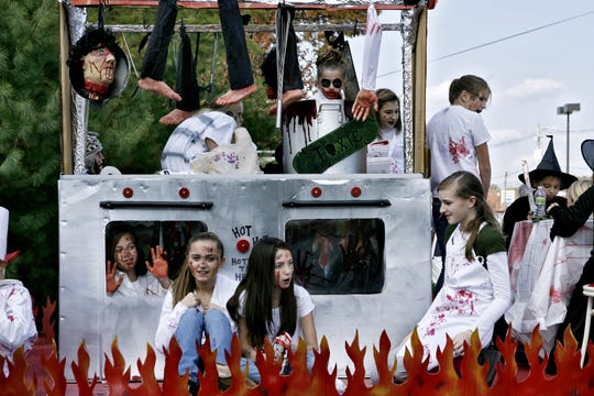 """Families from the Beaver Dam neighborhood created a """"Hell's Kitchen"""" float for the Point Pleasant Borough Halloween Parade in this Asbury Park Press file photo."""