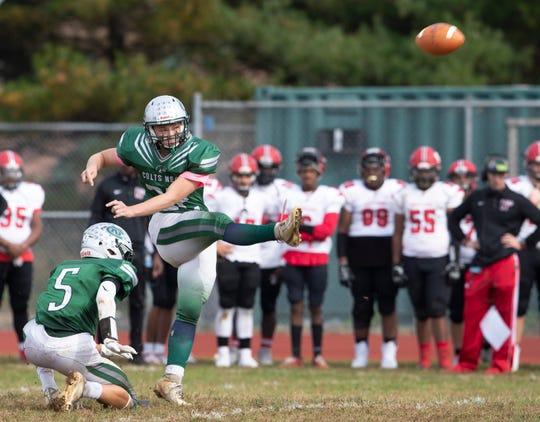 Neptune High School Football vs Colts Neck in Colts Neck NJ on October 26.2019.