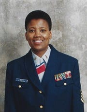 Coast Guard portrait of Master Chief Petty Officer Angela M. McShan.