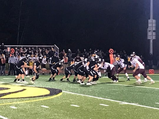 Windsor prepares to run a play against visiting Whitney Point during Friday's Section 4 Football Conference Division IV game. The Black Knights won, 42-14.
