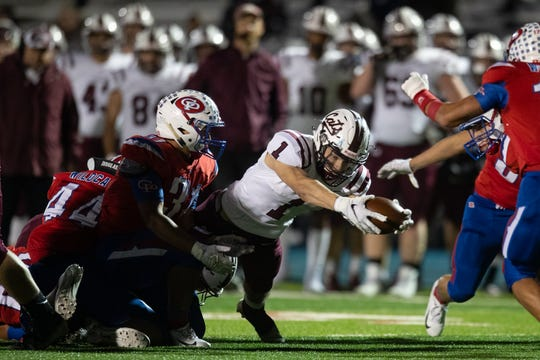 Calallen defeats Gregory-Portland 20-3 at Ray Akins Wildcat Stadium in Portland on Friday, Oct. 25, 2019.