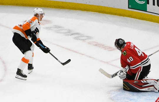 Oskar Lindblom lead the Flyers in goals heading into Saturday night's contest against the Columbus Blue Jackets.