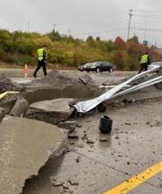 Crash on I-75