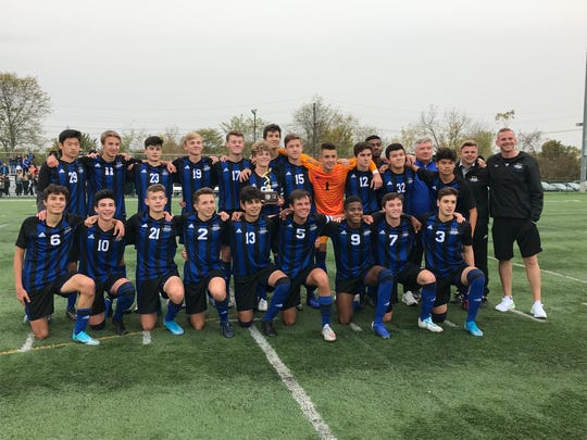 The top-seeded Gill St. Bernard's boys soccer team won its first Somerset County Tournament title with a 4-2 victory over No. 3 Pingry on Saturday, Oct. 26, 2019.