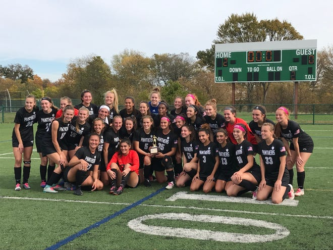 The No. 2 Bridgewater-Raritan girls soccer team won its third-straight Somerset County Tournament final with a 2-0 victory over No. 4 Ridge on Saturday, Oct. 26, 2019.