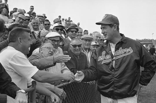 Legendary slugger Ted Williams went 273-364 over four seasons as a manager with the Senators and Rangers.