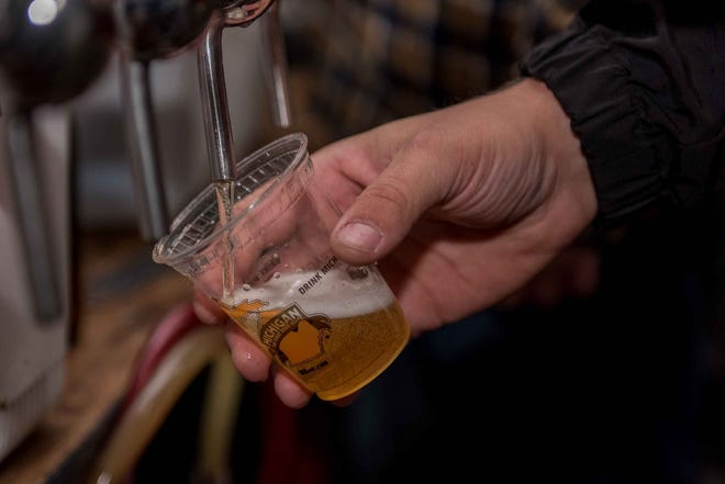 The Michigan Brewers Guild 2019 Detroit Fall Beer Festival returned to Eastern Market on Oct. 25, 2019. The festival featured a chance to sample nearly a 1,000 Michigan made craft beers, on stage entertainment and food from local area brewpubs and restaurants.