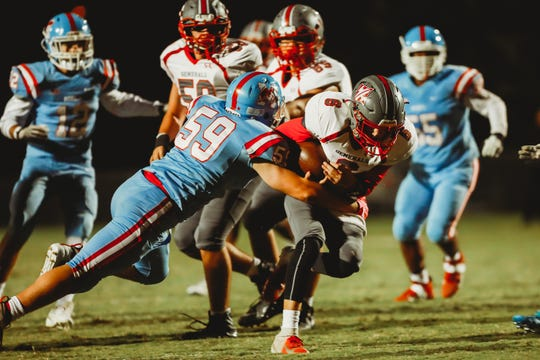 The excitement displayed by the J.L. Mann Patriots a little past 10:30 Friday night followed the school's first victory in football since 2017. The Patriots defeated Wade Hampton, 47-36.