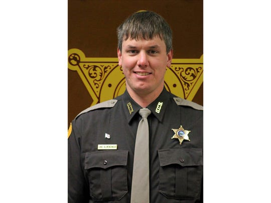 This undated photo released by Gallatin County Sheriff's Office shows deputy Jake Allmendinger. Authorities say the Montana county deputy has been killed in a vehicle accident on an icy mountain road while responding to a report of a stranded vehicle. The Bozeman Daily Chronicle reports 31-year-old Deputy Allmendinger died Saturday, Oct. 19, 2019, in Bozeman. (Gallatin County Sheriff's Office vis AP)