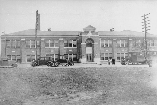 Weaverton School at 1100 Atkinson St. is seen here in the early 1930s. It was built in 1931.