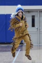Jacob James served as Waldron's Mohawk mascot.