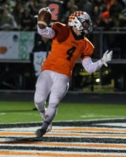 Brighton's Nicholas Nemecek ran 14 times for 89 yards and two touchdowns in a 46-35 loss to Dearborn Fordson.