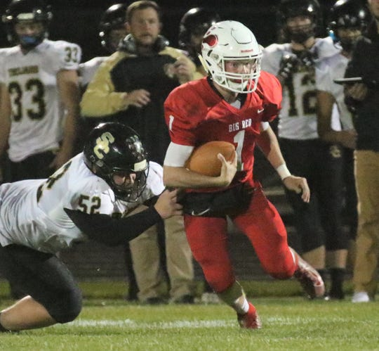 Plymouth's Walker Elliott was a force in the Big Red's 52-39 win over South Central on Friday night.