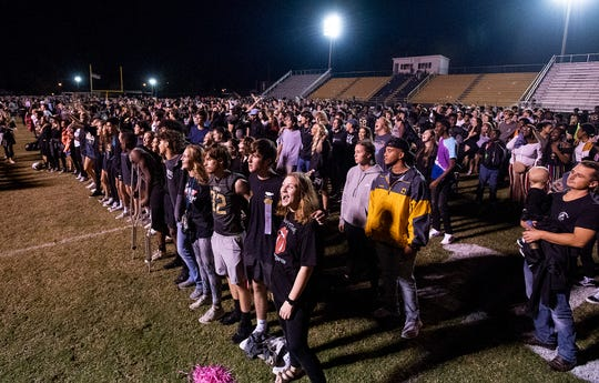 Wetumpka fans after loss to Muscle Shoals at Hohenberg Stadium in Wetumpka, Ala., on Friday October 25, 2019.