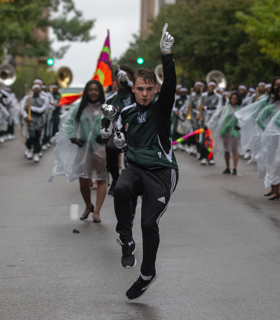 Dozens of marching bands, dance teams and representatives from Alabama State University and Alabama A&M participated in the annual Magic City Classic parade in downtown Birmingham.