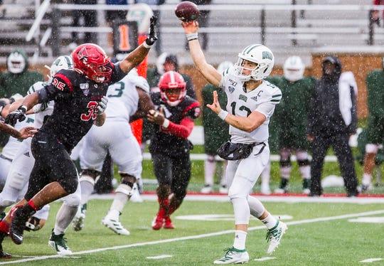 Ball State played Ohio at Scheumann Stadium Saturday, Oct. 26, 2019. Ohio defeated Ball State 34-21.