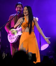 Kacey Musgraves performs at Bridgestone Arena Friday, Oct. 25, 2019 in Nashville, Tenn.