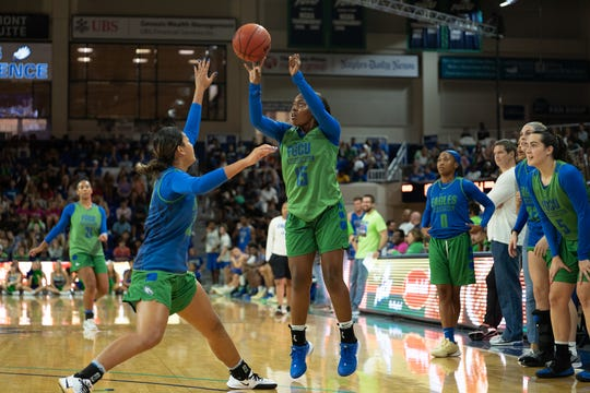FGCU held Dunk City After Dark, its the official kick-off event for the 2019-20 basketball season, Friday night at Alico Arena..