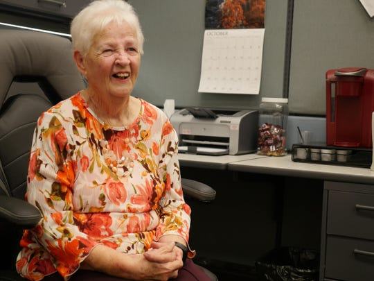 Mary Lindsey, 86, benefits greatly from Licking County Senior Services, and is one of the leading volunteers for the Licking County Aging Program.