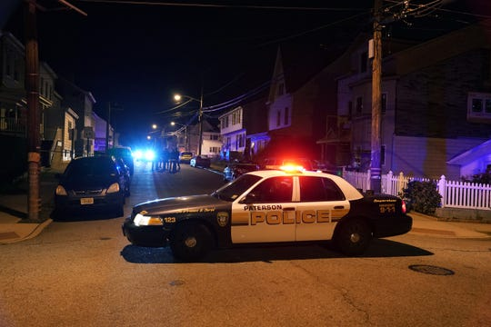 Paterson Police at the scene where a person was shot on Nagle Street at Carlisle Avenue in Paterson, NJ around 1:30 a.m. on October 26, 2019. (Photo/Christopher Sadowski)