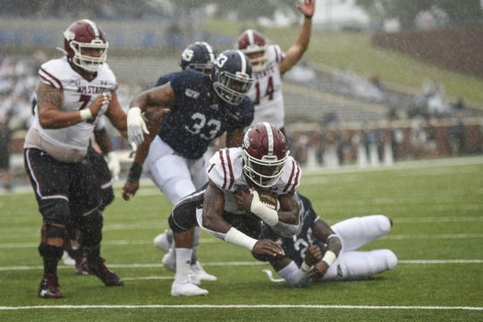 New Mexico State fell to 0-8 this season with a loss at Georgia Southern on Saturday.