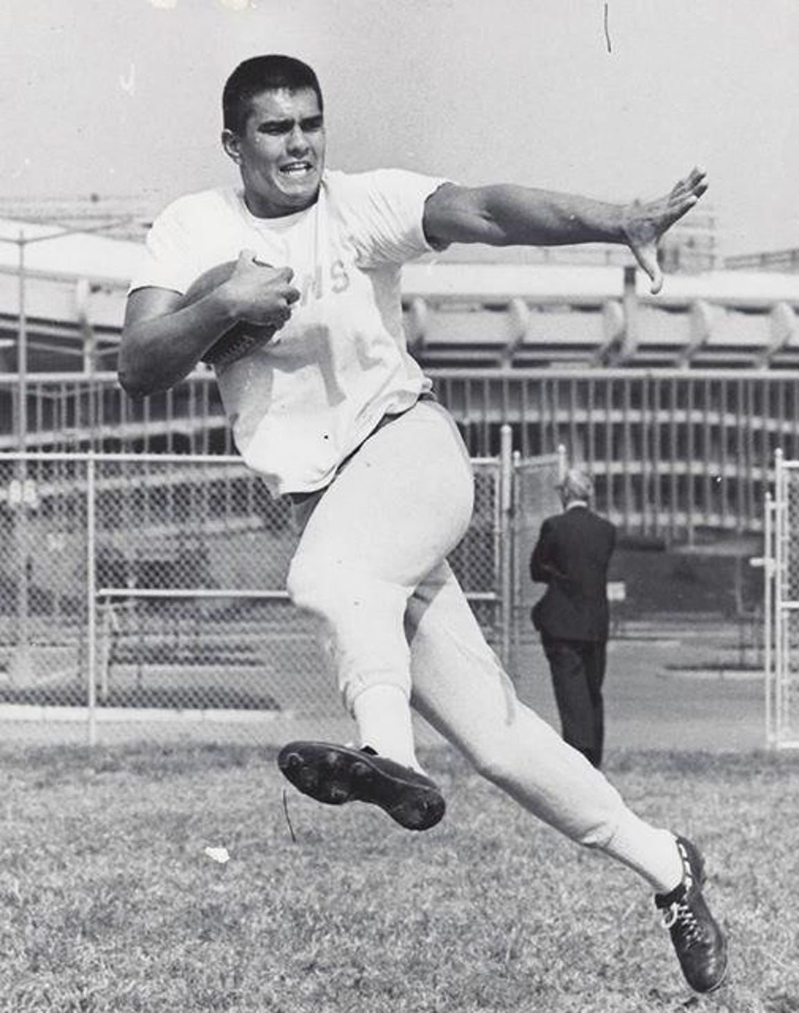 Roman Gabriel, the 1962 NFL Rookie of the Year with the Los Angeles Rams. His son Roman III quarterbacked the 1979 championship COD football team.