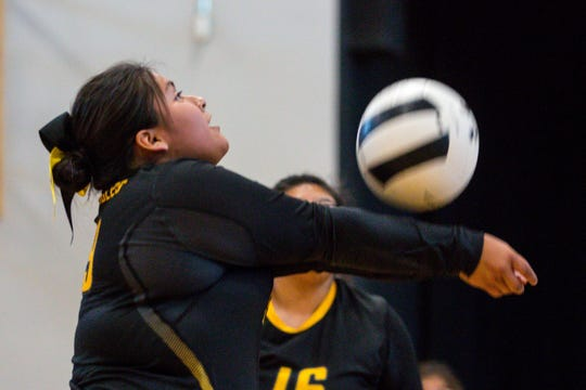 Salt River High School plays during the continuation of the game against Caurus Academy on Friday, Oct. 25, 2019, at Desert Heights Preparatory Academy in Glendale. The original game was halted Tuesday after reports of racial slurs against Salt River High School players.