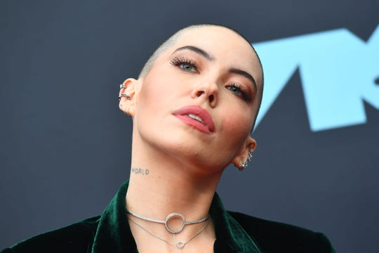 Bishop Briggs arrives for the 2019 MTV Video Music Awards at the Prudential Center in Newark, New Jersey on August 26, 2019.