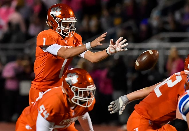 Central York's highly recruited quarterback, Beau Pribula, above, may thrive under new Panthers head coach Gerry Yonchiuk, who is known for running a pass-happy offense.