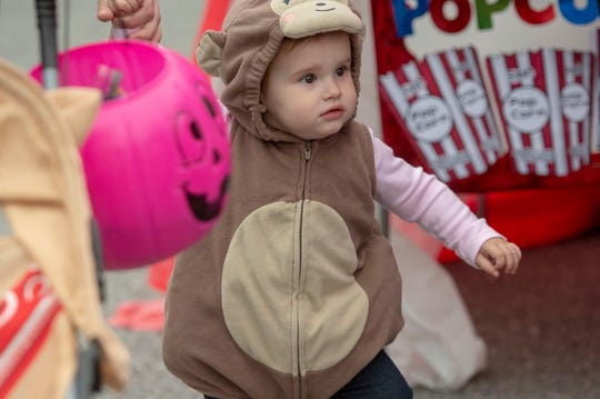 A number of Halloween activities took place before Thursday, including Halloween in the Park in Dover Township, where this little monkey was looking for goodies.