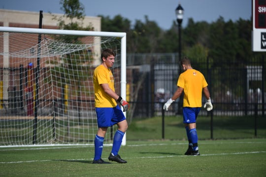 Freshman and James M. Bennett grad Gabe Dunn is the starting goalie for the Salisbury University men's soccer team.