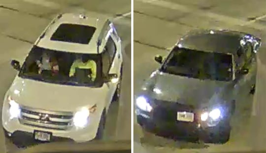 Police are seeking information on who was driving these vehicles in downtown Sioux Falls early Saturday morning.