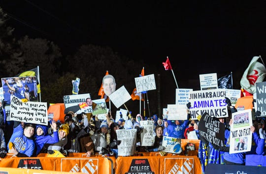 South Dakota State University's campus is flooded with Jackrabbit and Bison fans alike holding signs in hopes of catching a camera's eye as College GameDay airs live on Saturday, October 26, in Brookings.