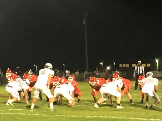 Riverheads had little trouble with Staunton Friday night in Shenandoah District football action.