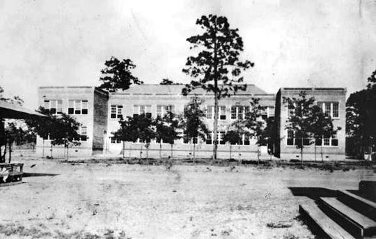 The old Altha School, built in 1926, in this 1928 photograph.