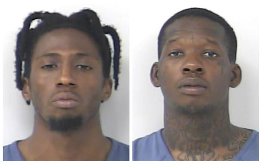 From left: Ahquan Ramsay and Artura Newton