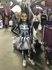 Savannah Rosales, 10, danced with the Horizon Heights Pom Squad on Saturday, Oct. 26, 2019, at Spooktacular at the El Paso County Coliseum.