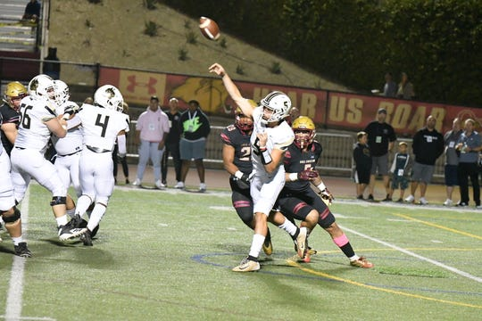 Quarterback Jaden Casey and Calabasas face national powerhouse St. John Bosco in a Division 1 quarterfinal Friday night.