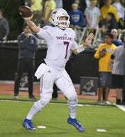 Westlake High quarterback Marco Siderman set a school record and tied a Ventura County record by passing for seven touchdowns Friday night against Newbury Park.