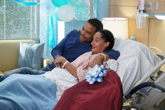 Anthony Anderson and Tracee Ellis Ross in ABC's 'Black-ish.'