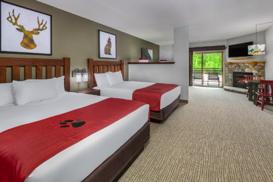 Example of renovated rooms in Williamsburg, Virginia Great Wolf Lodge.