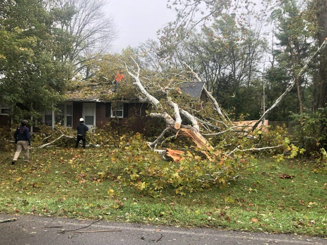 Storm damage in Montgomery County, as reported by CDE Lightband.