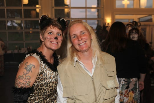 Jennifer Royce and Leslie Herlick at the Headhunter's Ball on Saturday, Oct. 26, 2019, at The Ruby Cora in Adams.