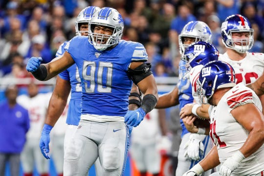 Trey Flowers is in his first season with the Lions.