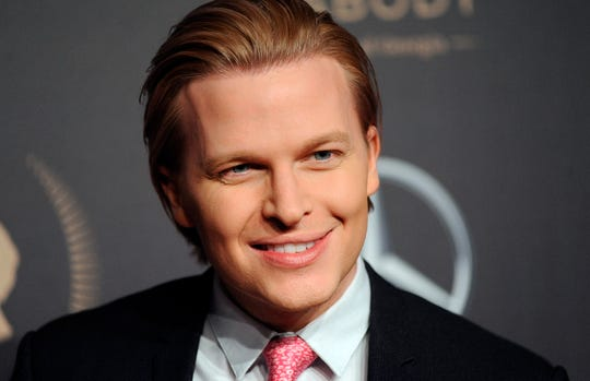 "FILE - In this May 18, 2019, file photo, Peabody Awards host Ronan Farrow attends the 78th annual Peabody Awards red carpet at Cipriani Wall Street in New York. Farrow is on a publicity tour for his book, ""Catch and Kill,"" in which he outlines his view of roadblocks NBC News set up that led him to take his Harvey Weinstein story to the New Yorker."