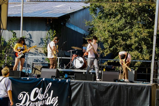 Band performing for the Club Downunder stage at Cat Fest 4 at Railroad Square.